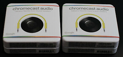 Two Google Chromecast Audio Media Streamer - New in Box