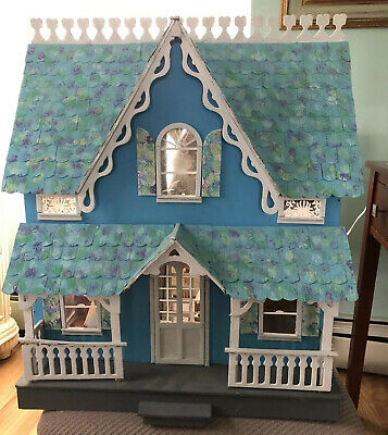 Beautiful Victorian Dollhouse Complete With Some Furniture