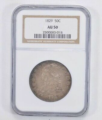 Au50 1829 Capped Bust Half Dollar - Ngc Graded