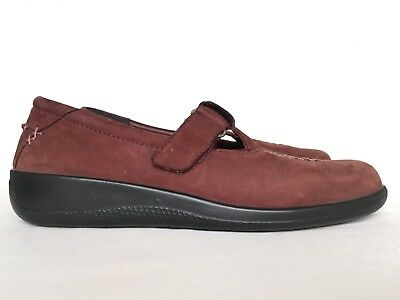 HOTTER Brown Flats Comfort Shoes Real Suede Wide 7,5 41 Senior