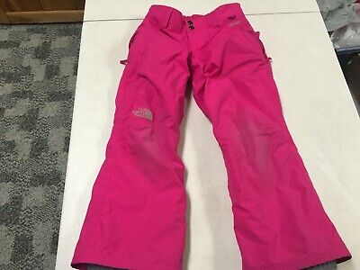 The North Face Hyvent Pink  Snow Pants   Girls  Sz   Small   7   8