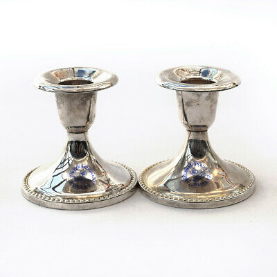 INTERNATIONAL SILVER CO Silver-plated Candlestick Tapered Candle Holders 2 pcs.