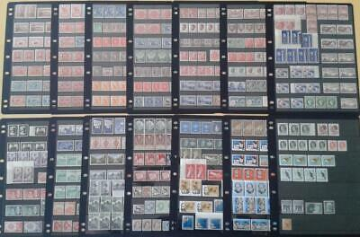 Collection of Australia Pre-decimal MUH/MH mint STAMPS on 14 x pages LQQK!