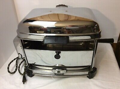 Vintage Ritz Black Angus Electric Broiler Rotisserie Model 711 Grill Countertop