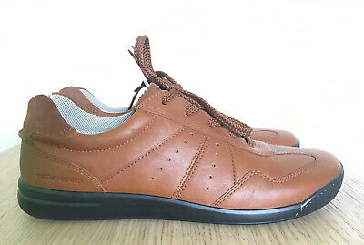 HOTTER Worn Once Ladies Tanned Brown Lace Up Comfort Shoes Flats Leather 6 39