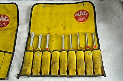 Mac Tools 8pc Metric Nut Driver Sets with pouches