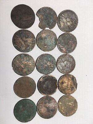 CANADIAN LARGE CENT LOT 1891-1920 GEORGE VICTORIA Dug from Beneath Earth Surface