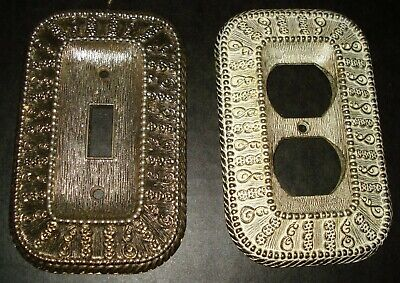 Vintage 1968 American Tack & Hardware Metal Light Switch Cover & Outlet Cover