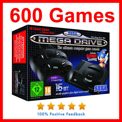 NEW Genuine Sega Mega Drive classic mini Console With 600 games