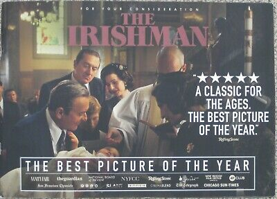The Irishman 2019 Official Promo Oscar Fyc 28-Page Booklet Martin Scorsese