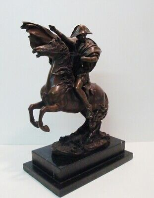 Signed Bronze French Style Napoleon Horse Sculpture Statue