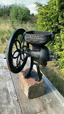 Antique Vintage W. Tamlin Twickenham Cast Iron Grist Mill Coffee Corn Grinder *