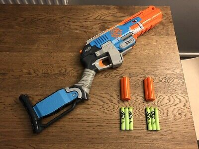 NERF Zombie Strike Sledgefire Blaster With 2 Shells Blaster Toy