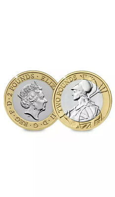 2020 Uk £2  Britannia Brilliant Uncirculated 2 Pound Coin