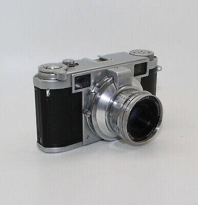 Leidolf Wetzlar Lordomat 35mm Rangefinder with 50mm lens, case and manual - VGC