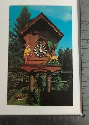 Vintage Postcard World's Largest Cuckoo Clock Alpine-Alpha Cheese Chalet Ohio