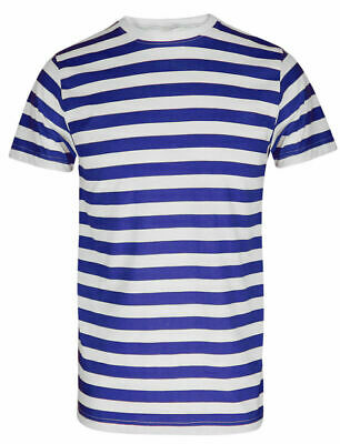 Pack of 2 Kids Boys Girls Striped Fancy Dress Summer School Day Holiday T-Shirts