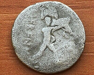 "M. Herennius 108-107 BC Republic AR Denarius ""Pietas Right & Catanaean Brother"""