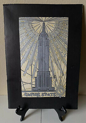 Antique 1931 Empire State: A History Architecture Booklet/ Art Deco New York NYC