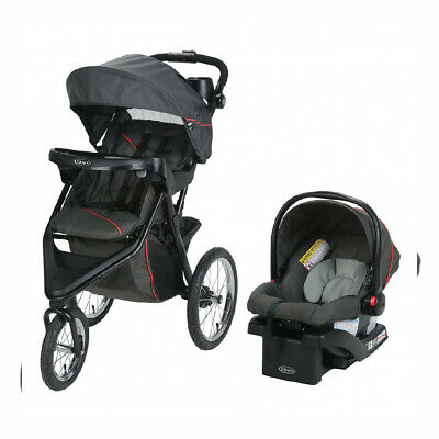 Graco Trax Jogger Travel System | Includes Jogging Stroller and Evanston