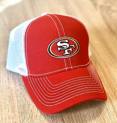 SAN FRANCISCO 49ERS NFL Patch Style Cap Hat 2019 Red White NFC CHAMPIONS
