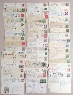 Lot of 50 Vintage Various Used Postcards With Stamps & Postmarks