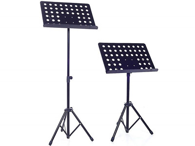 Adeptna Heavy Duty Designed Fully Adjustable Orchestral Music Sheet Stand - And