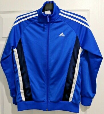 Retro / Vintage Style Kids ADIDAS Tracksuit Top -Size 13-14 Years Teenage - Blue