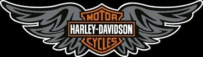 """8"""" HARLEY DAVIDSON WINGED BAR AND SHIELD PRINTED WINDOW DECAL Sticker"""