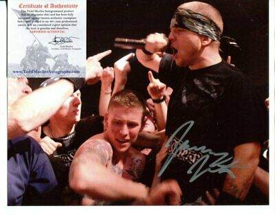 HATEBREED singer JAMES JASTA with  COA SIGNED autograph #0008