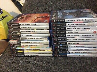 Playstation 2 PS2 Games Bundle / Joblot