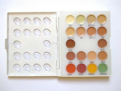 KRYOLAN DERMACOLOR CAMOUFLAGE MINI-PALETTE 18 SHADES New £15
