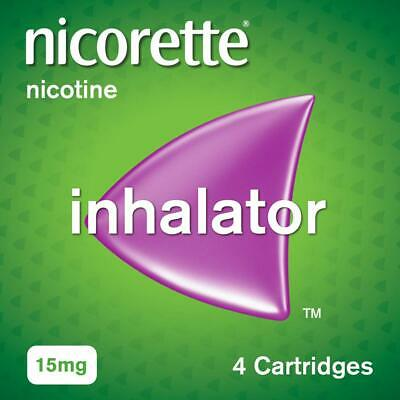 Nicorette Inhalator, 15 mg, 4 Cartridges (Stop Smoking Aid)