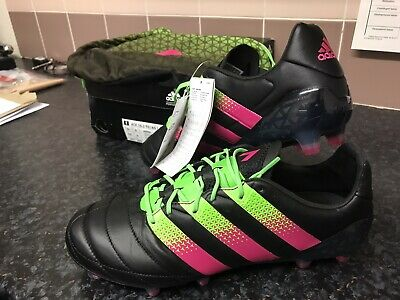 ADIDAS ACE 16.1 FG Football Boots Mens Uk 9black Leather Nwt