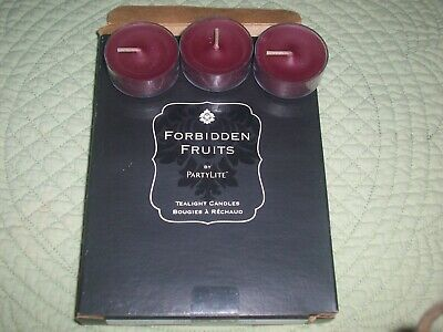 RETIRED Pomegranate Passion Tealights Partylite Forbidden Fruits