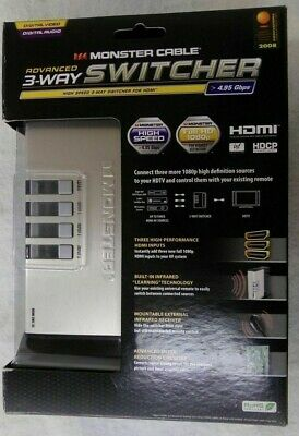Monster Cable HDMI SWC-X3 Advanced High Speed 3-Way HDMI Switcher - 3-In/1-Out
