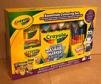 Crayola Essentials Colouring Gift Set Crayons Markers Twistables Pencils Paints
