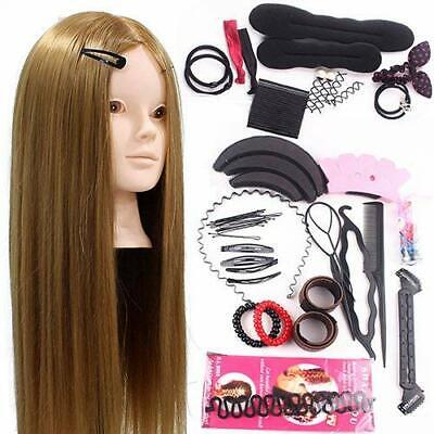 Neverland Training Head 24inch 50% Real Human Hair Cosmetology Hairdressing Mann