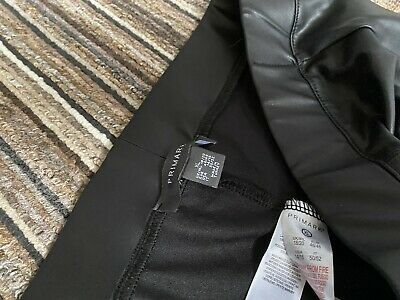 leather look leggings size 18