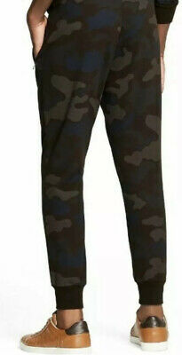 NWT Men/'s Five Elementz Blue Camouflage Camo Print Track Sweatpants ALL SIZES
