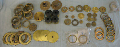 Lot #1 many Vintage Brass Electrical Floor Fittings Misc. Cover Check PHOTOS