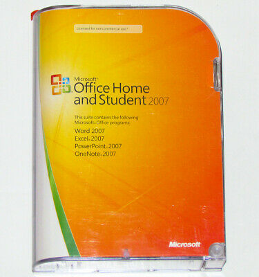 Genuine Microsoft Office Home and Student 2007 for Windows - For 3 PCs - TESTED!
