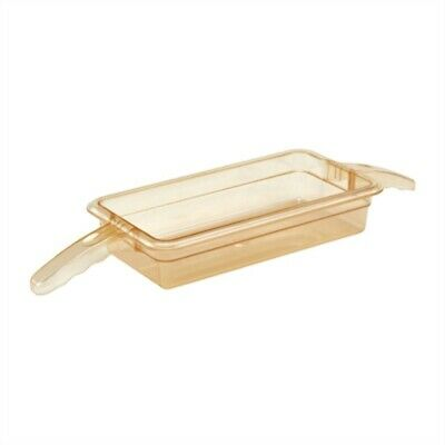 Cambro High Heat Polycarbonate 1/3 Gastronorm Tray with Double Handle 65mm DW488