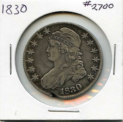 1830 50C Capped Bust Silver Half Dollar. Circulated. Lot #2474