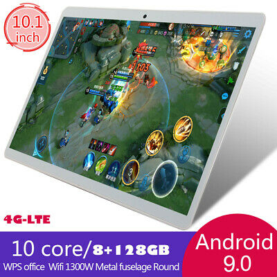 """10.1"""" WIFI/4G-LTE HD PC Tablet Android 9.0 bluetooth 8GB+128GB GPS Dual Camera"""