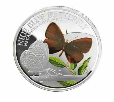Palau 2014$10 Animals in Glass Butterfly Greta Oto 50g Proof Silver Coin 999only
