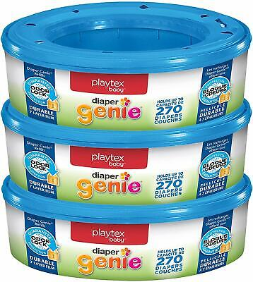 Playtex Diaper Genie Refill Bags, Ideal for Diaper Pails, Pack of 3, 810 Count