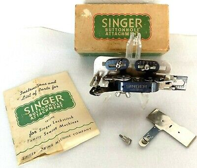 Singer Sewing Machine, Buttonhole Attachment, Orig., 1946, Complete! Free S/H