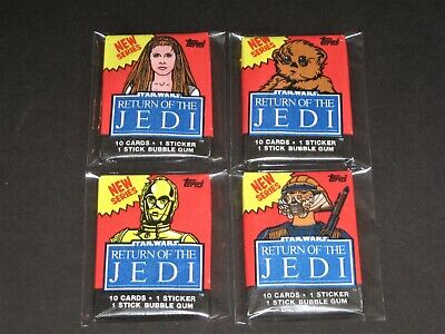 STAR WARS (Return of Jedi) © 1983 Topps ROTJ Series 2 (4) Unopened Wax Pack Set