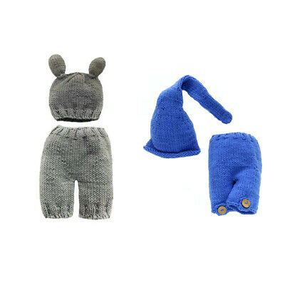 Newborn Infant Cute Crochet Knit Costume Outfits Clothes Baby Photography Props